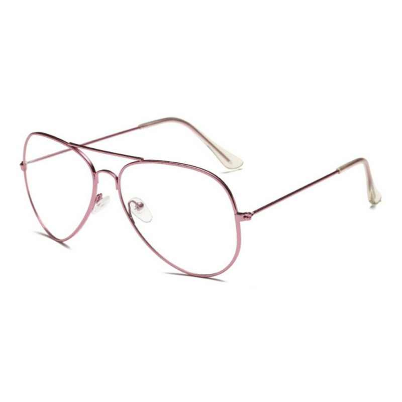 b77419c19f53 ... Hot Sale Unisex Clear Metal Spectacle Frame Optics Myopia Eyeglasses  Classic Brand Glasses Men Women Clear