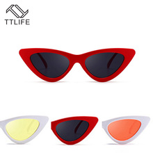 TTLIFE New Retro Cat Eye Sunglasses Female Models Multicolor Transparent Sun Glass Personality Exaggerated Ladies Glasses