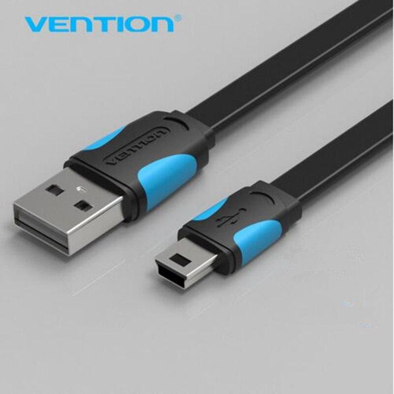 Vention mini câble usb 0.5 m 1 m 1.5 m 2 m mini usb à usb câble de chargeur de données pour téléphone portable MP3 MP4 GPS caméra HDD téléphone portable