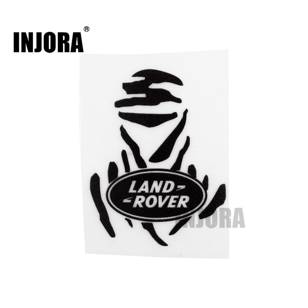 INJORA 1Pc TRX4 Land Rover Logo Label Sticker for 1/10 RC Crawler RC4WD D90 D110 Traxxas TRX-4 Trx 4 injora trx4 mud flaps rubber fender with ford sticker for 1 10 rc crawler traxxas trx 4 82046 4 ford bronco ranger xlt