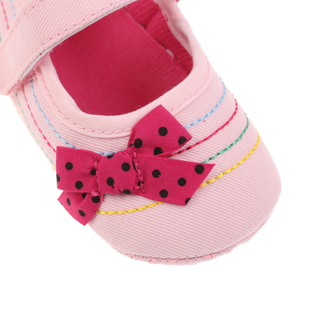 Baby Girl Shoes Denim Bowknot Baby Shoes Prewalker Walking Toddler Kids Shoes Soft Sole First Walkers 5