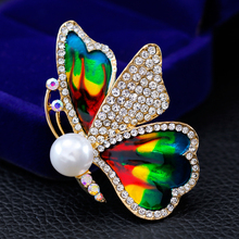 Rinhoo green Butterfly Small Insect Brooch Pins Animal Brooches for Women Decoration Jewelry Accessories