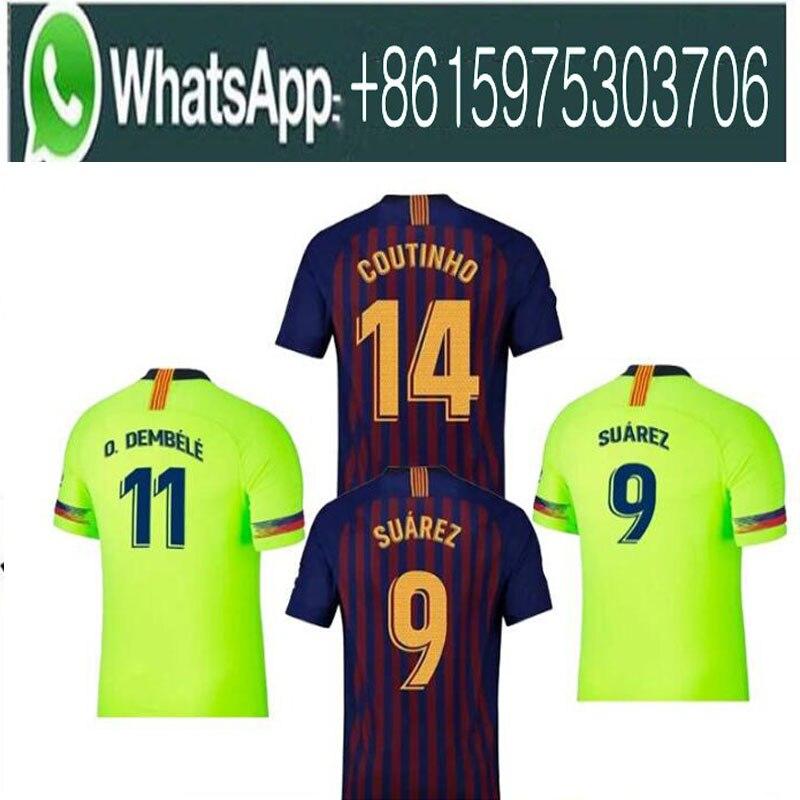 2018 Barcelona SUAREZ O.DEMBELE Jerseys 2018 2019 Camisas Coutinho Messi INIESTA PIQUE Soccer Jersey 18 19 Camiseta de futbol