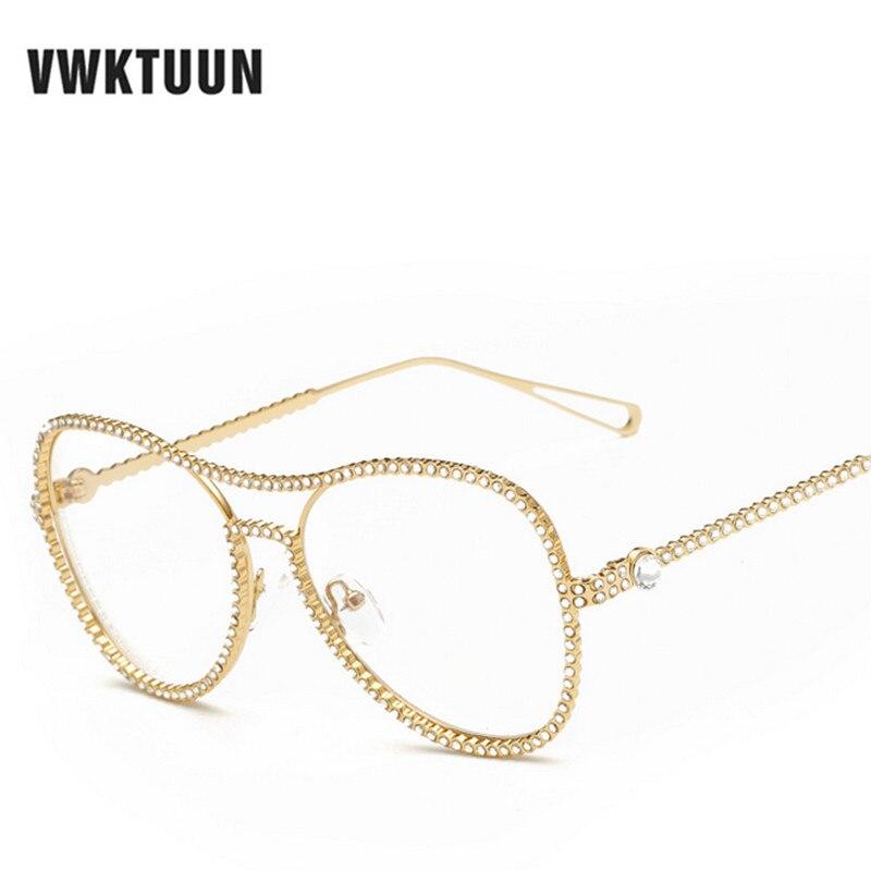 45fc2c6584f1cd VWKTUUN lunettes de Soleil Femmes Vintage Surdimensionné Lunettes Cadre Rétro  Lunettes Femmes Marque Designer Lunettes Optique Cadre Oculos