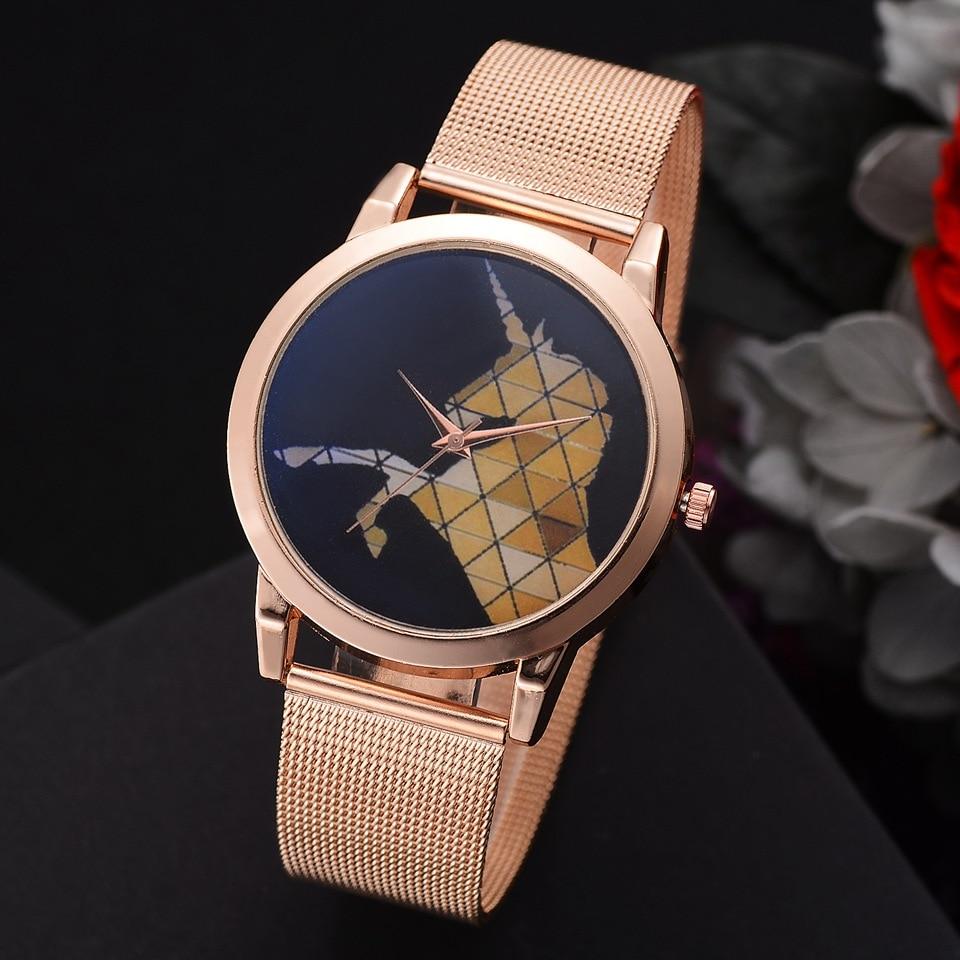 Women Gold Quartz Ladies Wrist Watch Fashion Horse Watch Upscale New Lvpai Brand Dial Stainless Steel Wristwatches lvpai p443 women dial analog quartz wrist watch