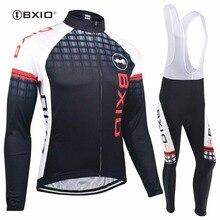Bxio зимние быстросохнущие велосипедные наборы супер теплая велосипедная одежда Pro черный длинный рукав велосипедные майки Ropa Ciclismo Invierno 012