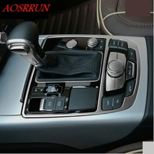 Private stalls panel decorative trim strip light strip gear box gear panel for audi a3 a4 a5 a6 a7 q5 accessories car-styling
