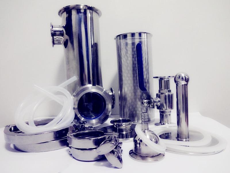 Gratis Verzending 4 Fluit Distilleerder Set Met Gin Mand Kit, Koperen Plaat Sets * 4 Roestvrij Steel304 - 3