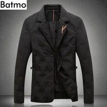 BATMO 2018 new arrival winter high quality 80% white duck down jackets men,men's winter warm black blazer,plus-size M-5XL 9005