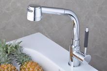 Pull Out Кухонный кран & Хромированная водопроводной воды Смеситель для раковины