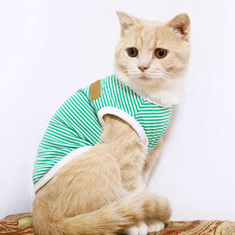 Klassieke Streep Huisdier Kat Kleding Voor Katten Zomer Hond Kat Vest Shirt Katten Kleding Kedi Pak Goederen Voor Huisdieren Katten kostuum Kleding