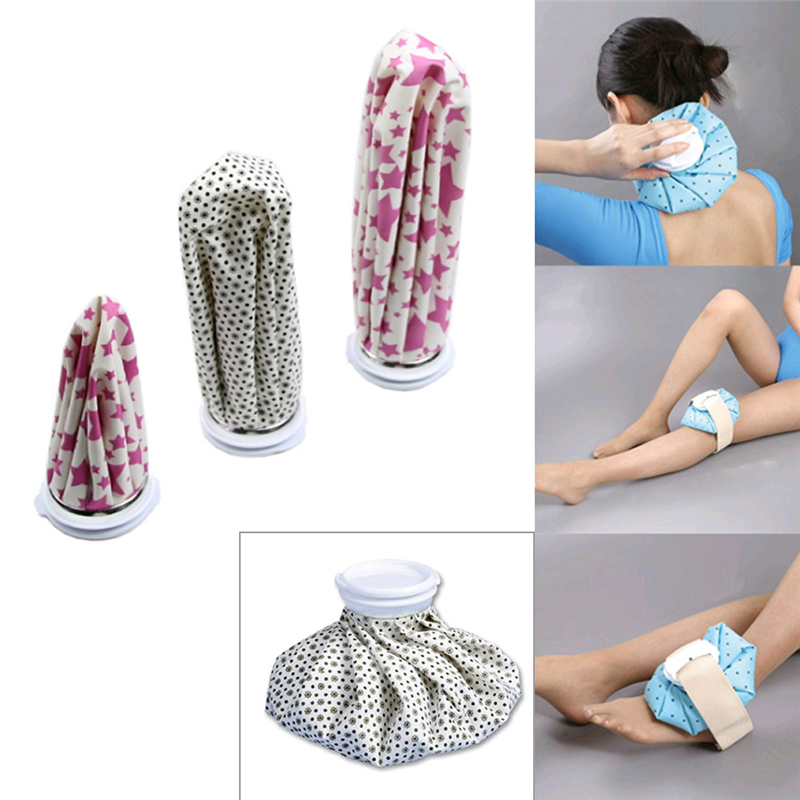 Health Care Reusable Ice Bag Cap Injury Muscle Aches Pain Relief for Cold Therapy Small s/m/l size Fabric+Rubber New for medical hospital gym and family useback hip rib cold compression wrap ice bag health care
