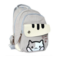 Cute Cartoon Cat Bag Children Backpack Women Mini Backpack School Bags For Girls Junior High School