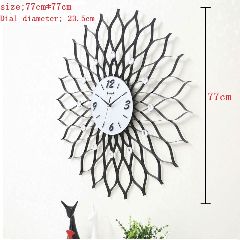 77CM Large Wall Clock Saat Reloj Clock Duvar Saati Relogio de Parede Horloge Murale Iron Digital-watch Clocks Klok Home Decor