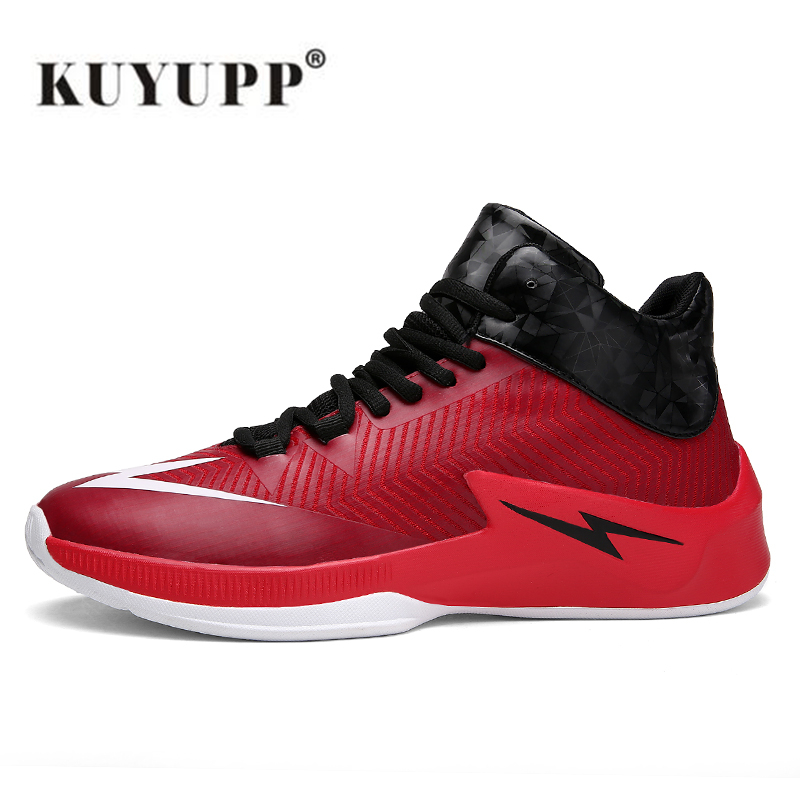 ФОТО KUYUPP High Top Men Basketball Shoes Breathable Boots Non Slip Shoes Men Air Basketball Sneakers Athletic Shoes Zapatillas B65