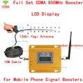 Conjunto completo Tela LCD GSM CDMA 850 Mhz 850 MHz Repetidor Celular Mobile phone Signal Booster Repetidor Amplificador & Antena Yagi conjunto