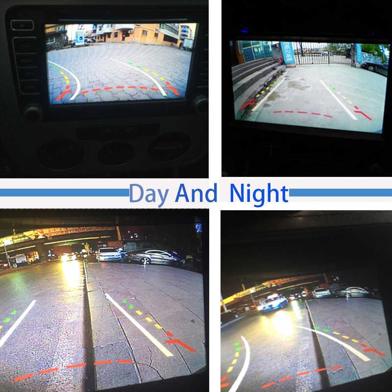سيارة الرؤية الخلفية عكس احتياطية كاميرا لموقف السيارات HD خط ديناميكية ل باسات B5 (MK5) 2002-2010 تيجوان 2009 2010 2011 2012 2013 2014