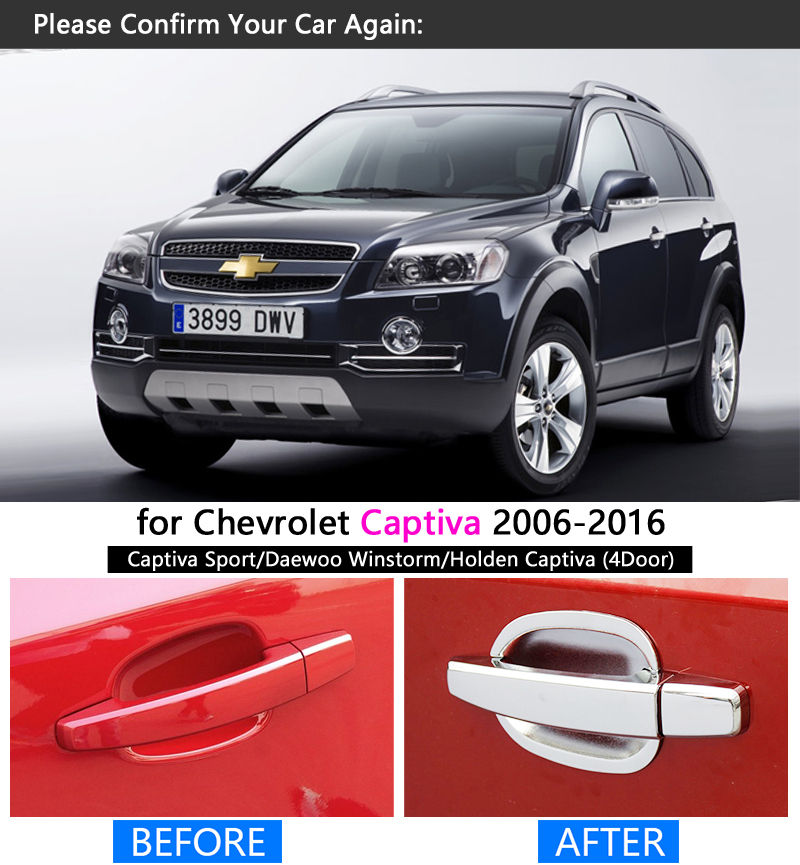 Chrome Door Handle Cover Trim without hole For Volkswagen Jetta MK6 2012-2018
