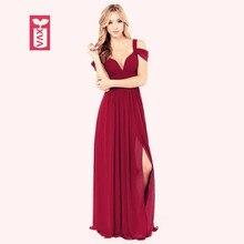 Экспорт 2017 цвет красного вина Формальные платья Вечерние Открыть Вилка длиной до пола платье женские макси без рукавов длинные боковые Разделение платье