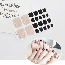Fashion Toenails Stickers Mix Nail Design Adhesive Full Cover Summer Style New Accessories Art Manicure Decals D15