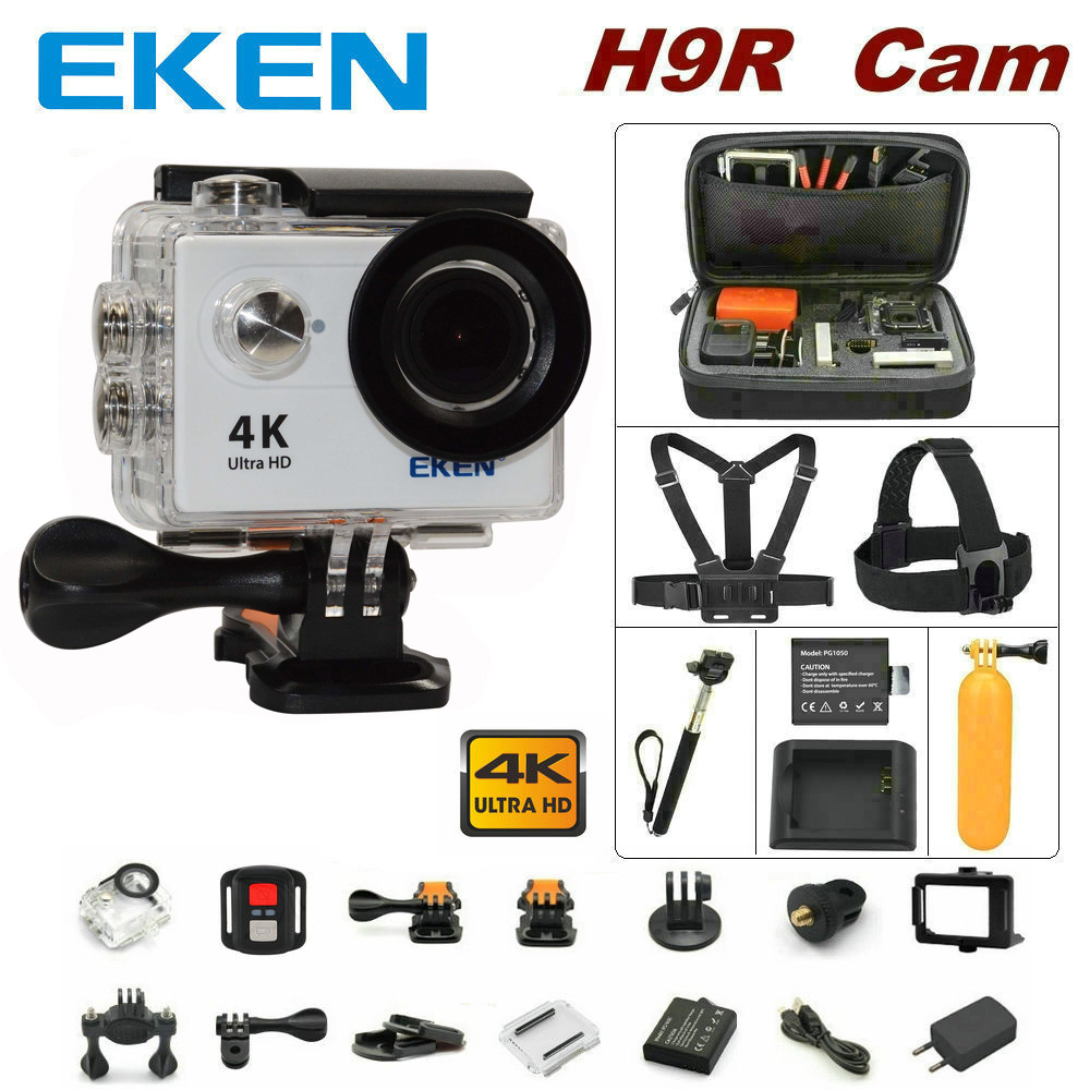 100% Original EKEN H9R remote control camera 4K wifi Ultra HD 1080p 60fps 170D waterproof camera sports mini cam original eken action camera eken h9r h9 ultra hd 4k wifi remote control sports video camcorder dvr dv go waterproof pro camera