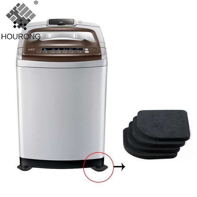 4 PC Lavatrice Shock Pad Multifunzione Frigorifero Anti-vibrazione Pad Zerbino N