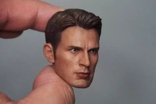 Custom 1/6 Chris Evan Captain America Head Sculpt 5.0 For Hot Toys Body Without Neck