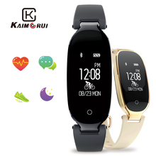 Купить с кэшбэком Fitness Bracelet S3 Smart Watch Fashion Women Ladies Wristband Heart Rate Smartwatch Relogio Inteligente for Android IOS Phone