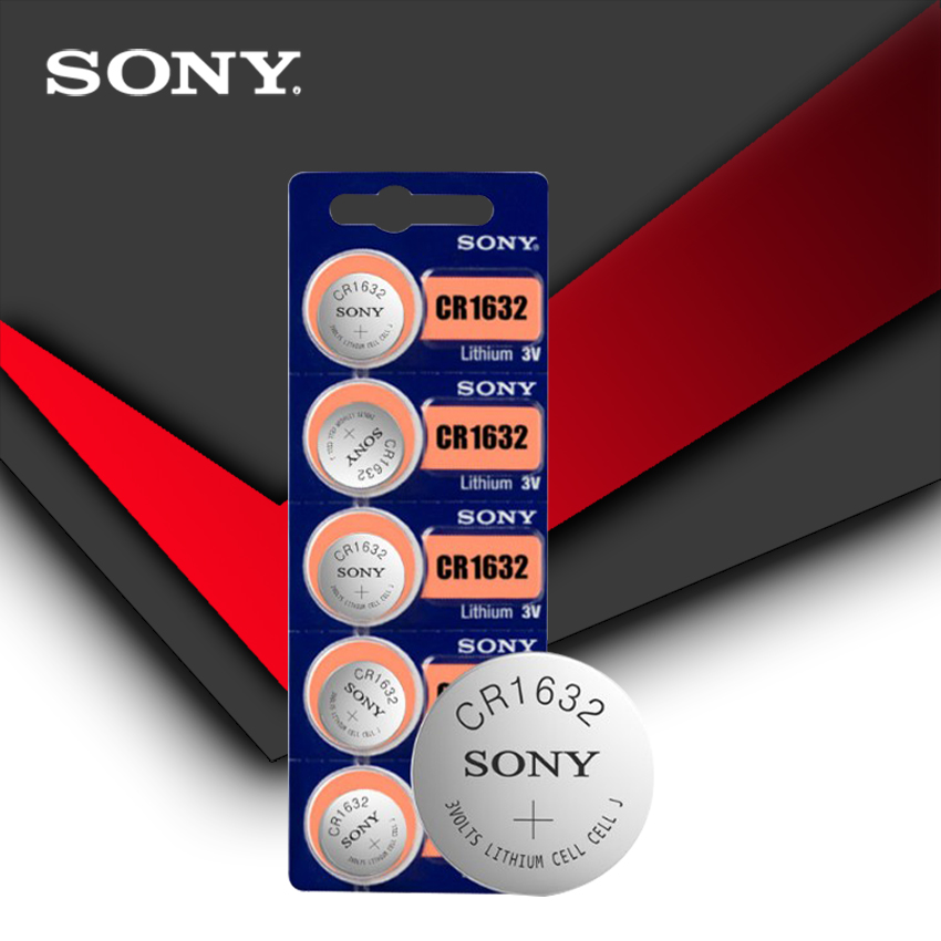 5pc/lot Sony Original 100% CR1632 Button Cell Battery For Watch Car Remote Key cr 1632 ECR1632 GPCR1632 3v Lithium Battery(China)