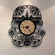 Creative Car Shape Vinyl Retro Wall Clock CD Record Time Clock Film Theme Creative European Style