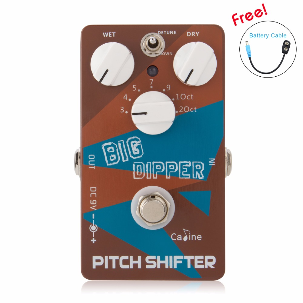 New Caline CP 36 Pitch Shifiter Guitar Pedal Big Dipper Pedal Ture Bypass Design With Aluminum