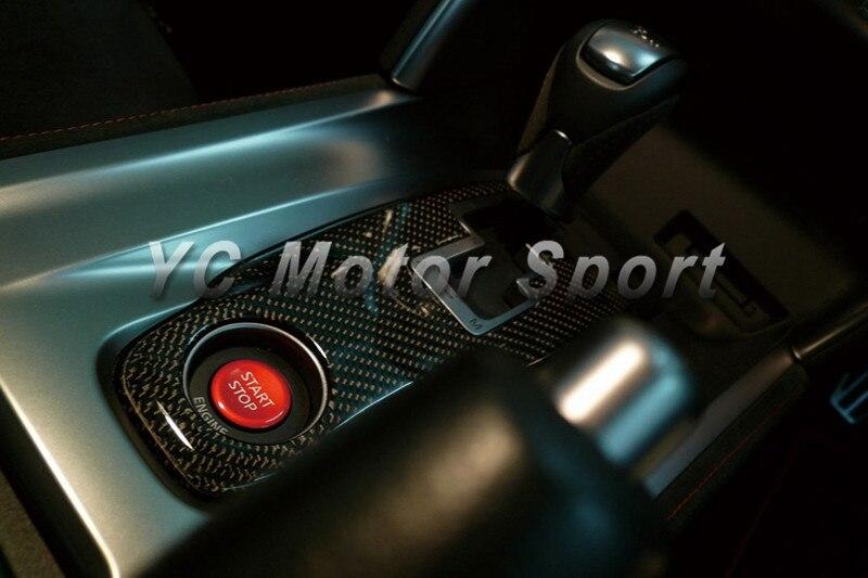 Accesorios para autos Seco de fibra de carbono Tejido de tela cruzada - Accesorios de interior de coche