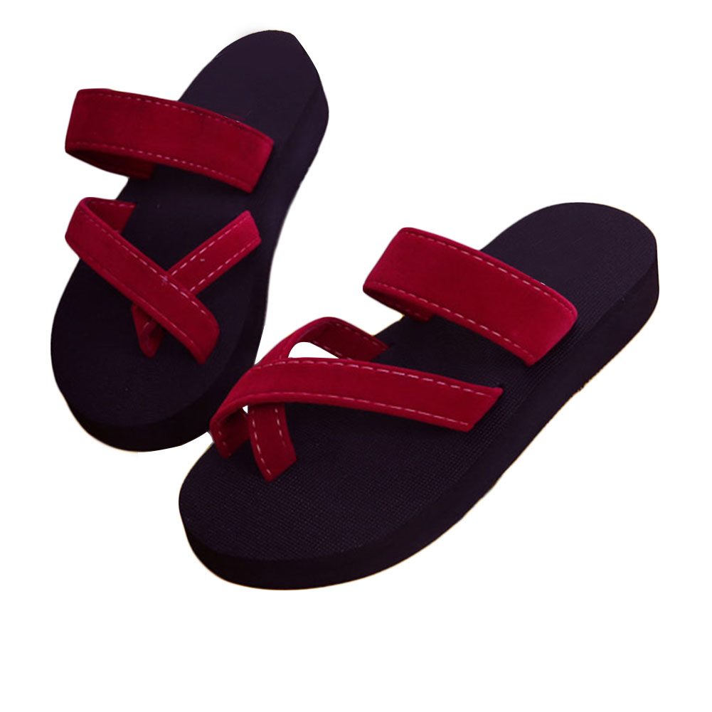 Fashion Slippers Women Flip Flops Mules Slides Wedge Sandals Platform Beach Slippers Zapatillas Outdoor Slippers Zapatos Mujer girl shoes in sri lanka