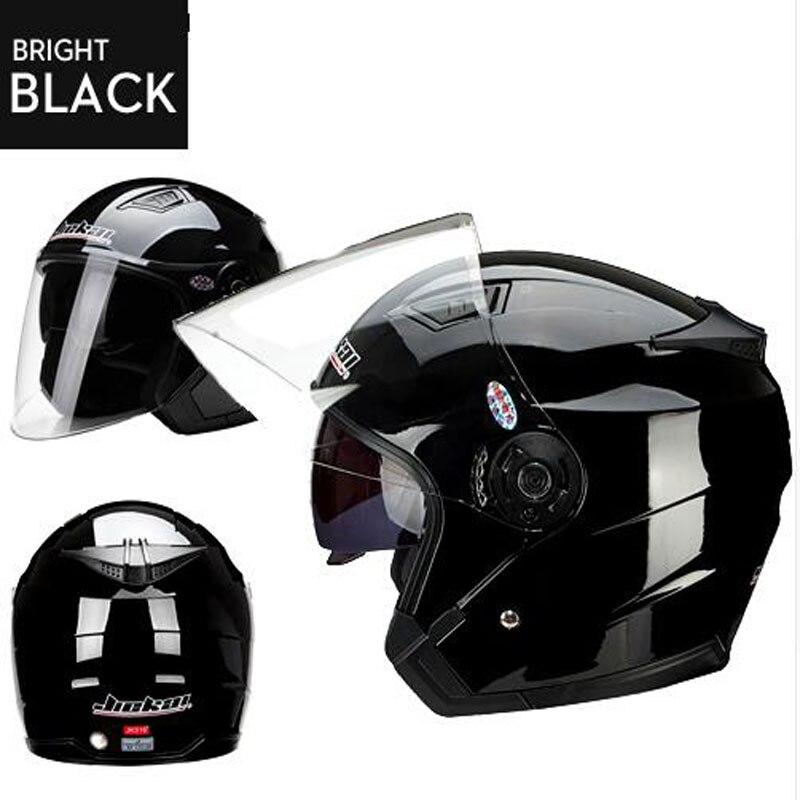 2017 Genuine JieKai dual lens vintage Motorcycle helmet unisex Scooter motos helmets Casco Capacete Protective Gears capacete