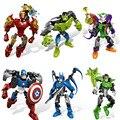 DIY Deadpool Marvel Super Heroes Avengers Minifigures Building Blocks Brinquedos Compatível legoe Livre combinação de diferentes estilos