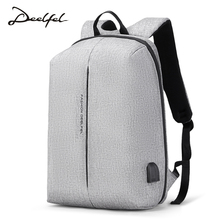 DEEFEL Laptop Backpack Men 15.6 inch waterproof Backpack Male USB Charger Backpack Men Travel School Bag for Teenagers Muchila