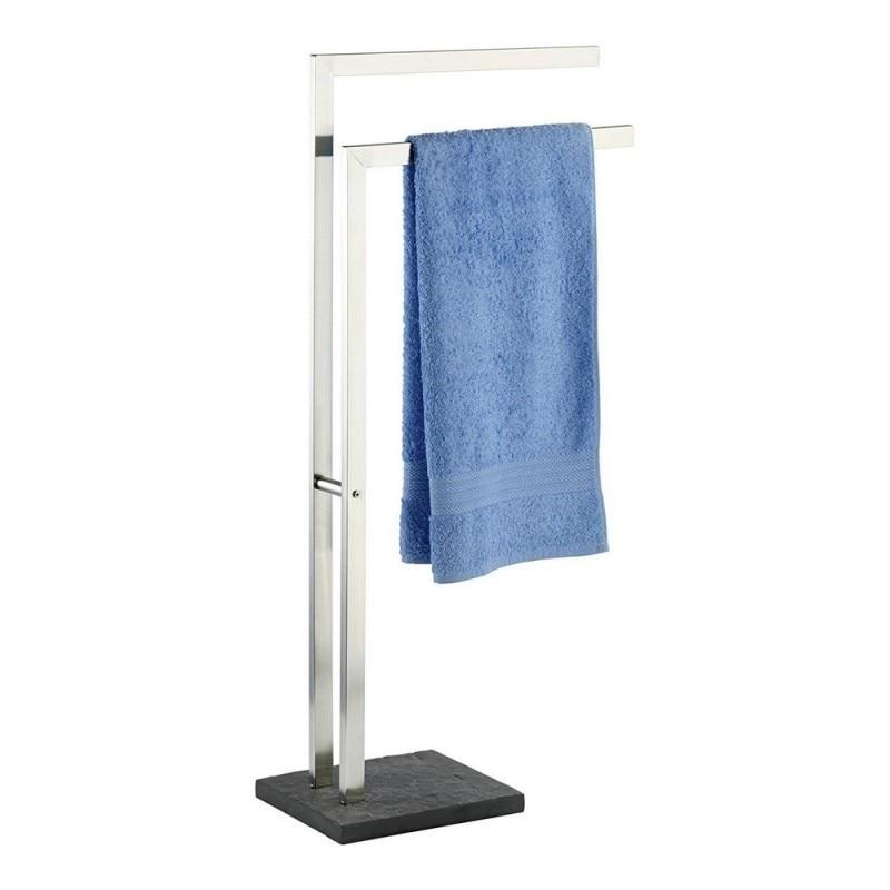 WENKO-18447-single Towel Rail Slate Rock