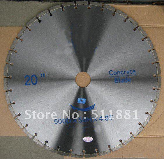 20'' Diamond Wet Saw Blade |  500mm Concrete Granite Saw Blade  | Bridge Cutting Blade | Can Choose Silent Base Core