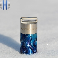 Titanium Pillbox Outdoor Waterproof Box Waterproof Bin Mini Emergency Capsule Box EDC