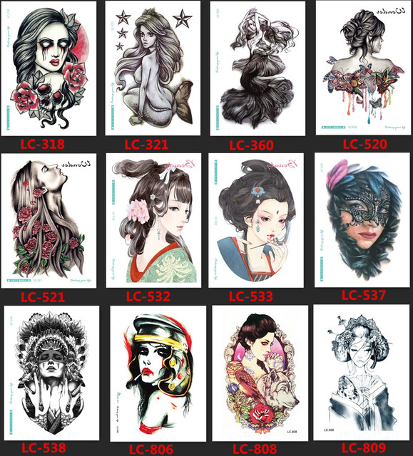 Sexy women tattoo designs