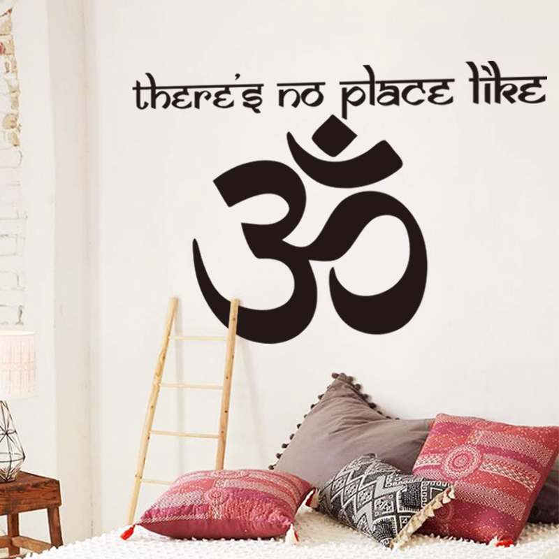 Om Shanti Symbol Hinduism Vinyl Wall Sticker Yogs Namaste Home Decoration Decals Indian Peace Stickers Aum Namah Shivaya In From