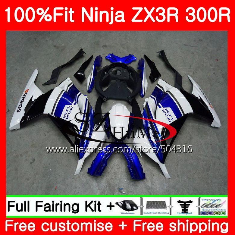 Injection Pour KAWASAKI NINJA ZX-3R ZX300R bleu noir ZX-300R EX 300 2HS14 ZX3R 13 14 15 EX300 ZX 300R 2013 2014 2015 carénages