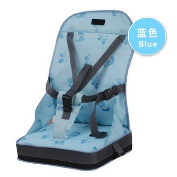 Портативное сиденье-бустер, обеденный коврик, детское кресло, сиденье для младенцев, безопасный дорожный стульчик для кормления, для малышей, для покупок, сиденье, помощник, 3 цвета - Цвет: blue