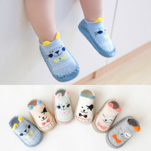 Anti Slip Soft Sole Sock Baby Socks With Rubber Soles Infant Newborn Baby Girls Boys Autumn Winter Children Floor Socks Shoes candy color soft new born baby floor sock short anti slip ankle solid socks for infant boys girls