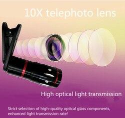 Obiektyw do telefonów komórkowych obiektyw 10x Metal teleobiektyw uniwersalny obiektyw teleskopowy Zoom HD obiektyw