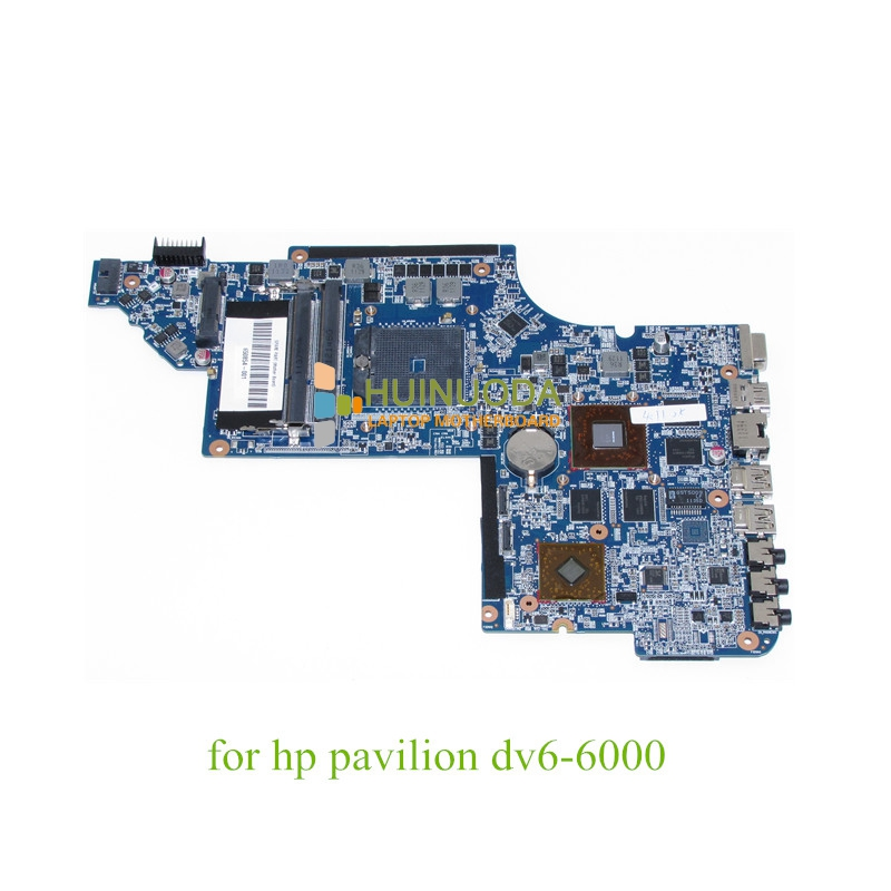 NOKOTION 650854-001 Main Board For Hp Pavilion DV6 DV6-6000 Laptop Motherboard Socket fs1 DDR3 ATI HD6750 1GB nokotion 645386 001 laptop motherboard for hp dv7 6000 notebook pc system board main board ddr3 socket fs1 with gpu