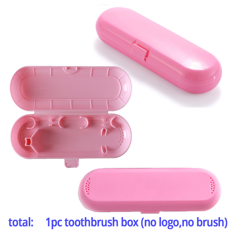 Oral B Portable Travel Box Electric Toothbrush Outdoor Hiking Camping Protect Cover Storage Case Blue Pink (only travel box)