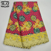 Lastest Style High Quality African Wax Lace Fabric High Quality Embroidery With Stone Nigerian Wax Lace