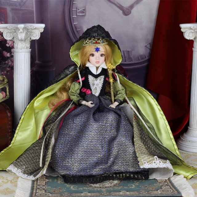 TAROT CARD Major Arcana The emperor joint body doll white skin with crown golden blonde hair 34cm east barbi 5