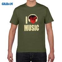 GILDAN Pure Cotton Round Collar T Shirt Men Bone Men S Short Sleeve T Shirt I